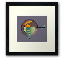 Undiscovered Species - Alpha Green Framed Print