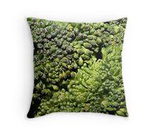 Broccoli Macro Throw Pillow