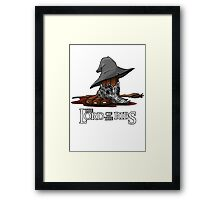 Lord of the Ribs - Gandalf Framed Print