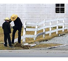 Mending Fences  Photographic Print