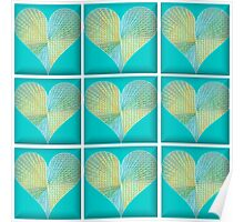 Abstract Hearts Poster