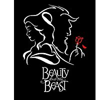 Beauty and the Beast - Belle, the Beast and the Rose Photographic Print