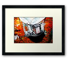 fitzroy graffiti Framed Print