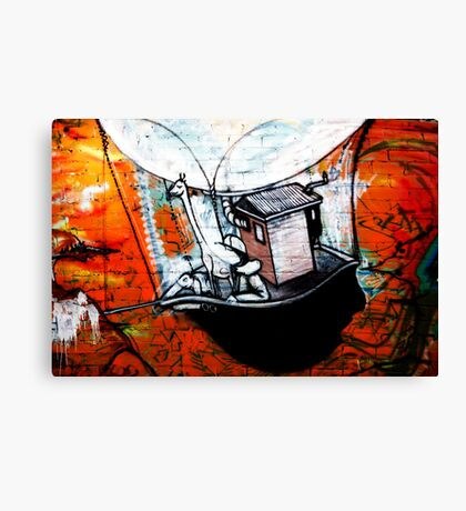 fitzroy graffiti Canvas Print