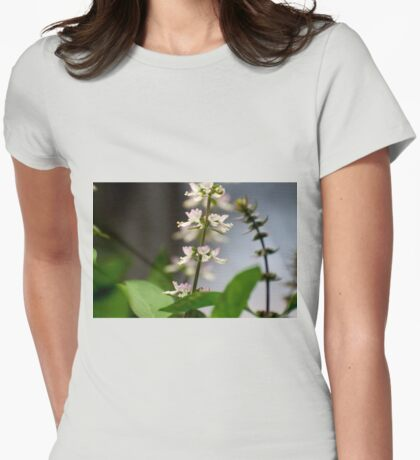Basil Blossom Womens Fitted T-Shirt