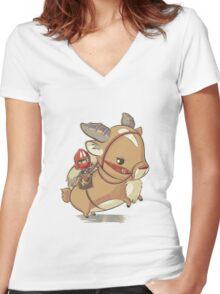 Mononoke Hime Women's Fitted V-Neck T-Shirt
