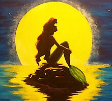 The Little Mermaid Disney - Ariel and the Moon by TylerMellark