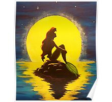 The Little Mermaid Disney - Ariel and the Moon Poster