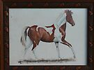 """An Early Work - """"Skewbald Pony"""" by louisegreen"""