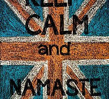 Keep Calm and Namaste by Stanciuc