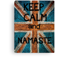 Keep Calm and Namaste Canvas Print