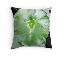 Waterlily Heart Throw Pillow