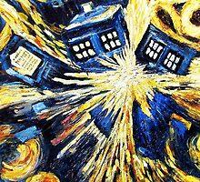 Doctor Who - Tardis Exploding by Van Gogh by TylerMellark