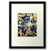 Doctor Who - Tardis Exploding by Van Gogh Framed Print