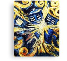 Doctor Who - Tardis Exploding by Van Gogh Canvas Print