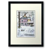 Victorian Snowstorm Framed Print