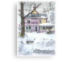 Victorian Snowstorm Metal Print