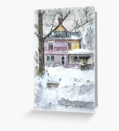 Victorian Snowstorm Greeting Card