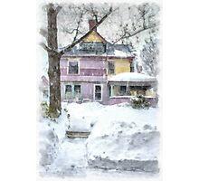 Victorian Snowstorm Photographic Print