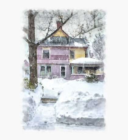 Victorian Snowstorm Photographic Print