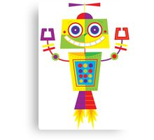 Robot Illustration Canvas Print