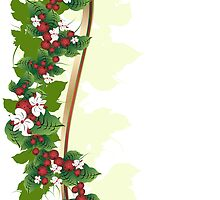 Ornament with berries by Olga Altunina