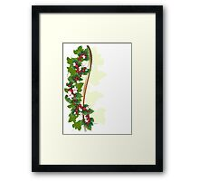 Ornament with berries Framed Print