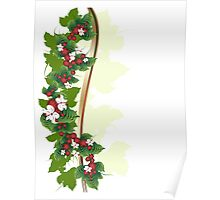 Ornament with berries Poster
