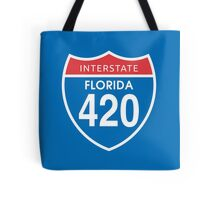 Florida 420 Day Red Blue Interstate Highway Sign Tote Bag