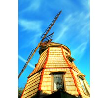 Windmill in the Sun Photographic Print