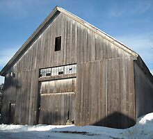 Large Barn  1800's Gardner MA by Rebecca Bryson