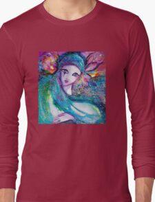 MASK IN BLUE / Venetian Masquerade Long Sleeve T-Shirt