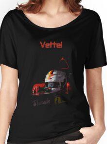 Sebastian Vettel; Ferrari 2015 Women's Relaxed Fit T-Shirt