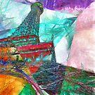 Eiffel Tower Abstract by Edward Fielding