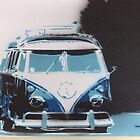 split stencil, 65 vw camper rolling by prawn