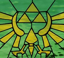 The Legend of Zelda - Green Stained Glass by ghoststorm