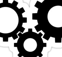 Gears - Black Sticker