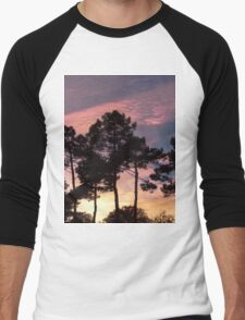 Sunset - Clouds, wind and trees Men's Baseball ¾ T-Shirt