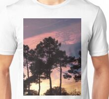 Sunset - Clouds, wind and trees Unisex T-Shirt