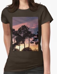 Sunset - Clouds, wind and trees Womens Fitted T-Shirt
