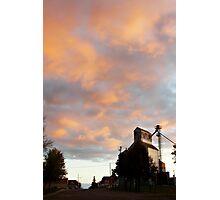 Silo At Sunset Photographic Print