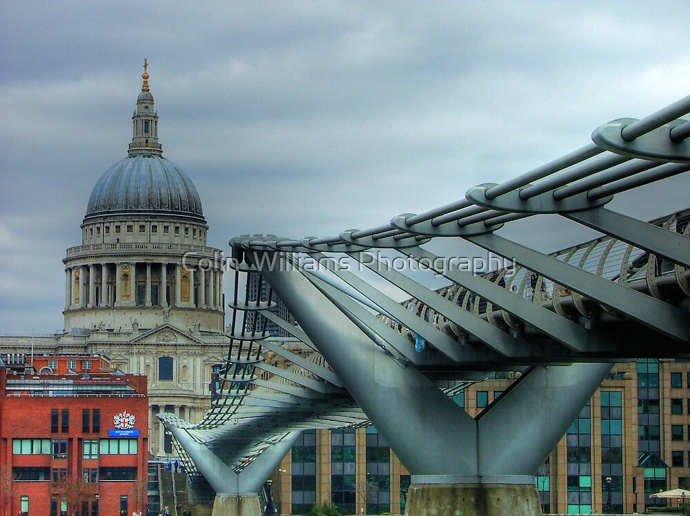 The Millennium Bridge by Colin  Williams Photography