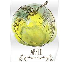 fresh useful eco-friendly apple Poster