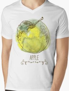 fresh useful eco-friendly apple Mens V-Neck T-Shirt