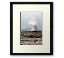 Blow Hole. Bicheno. Tasmania Framed Print