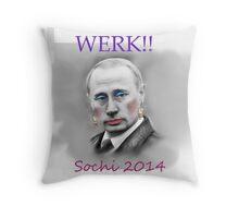 WERK!! Sochi 2014 Throw Pillow
