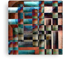 Crossover abstract painting Canvas Print