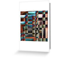 Crossover abstract painting Greeting Card