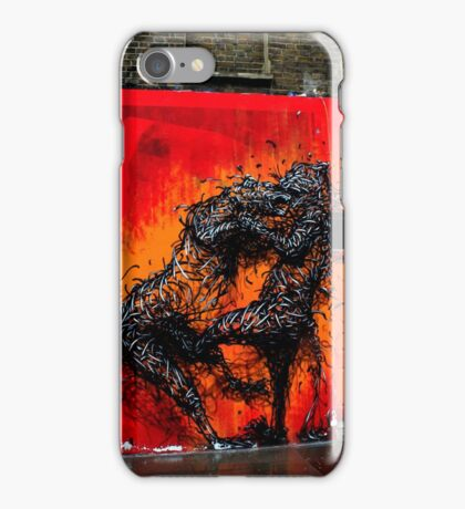 Fighting Cats (Urban Wildlife)  iPhone Case/Skin