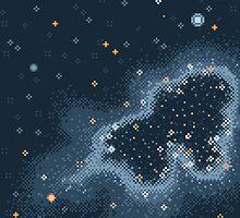 Grey Rift Galaxy (8bit) by sp8cebit
